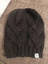 Puma Black Heavy Knit Beanie Hat brand New Genuine With Tags