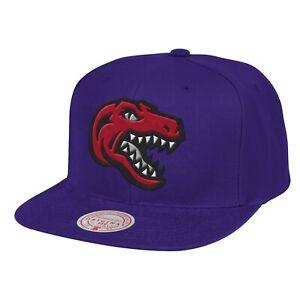 Toronto Raptors Mitchell & Ness LOGO REMIX Snapback Adjustable NBA Hat - Purple