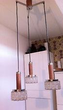 Teak Deckenlampe  vintage Danish Modern Design Mid Century 60er Leuchte Lampe