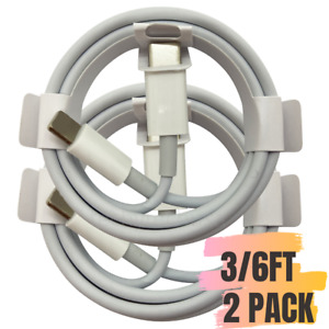 2 Pack 3/6Ft USB-C to iPhone Cable Fast PD Charger Cord For iPhone 12 11 Pro Max
