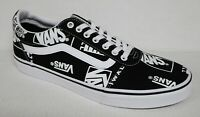 VANS OFF the WALL WARD LOGO MIX BLACK & WHITE SNEAKERS SKATE SHOES OLD SKOOL NEW