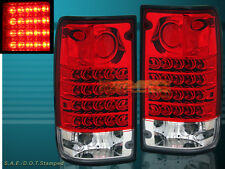 "1989-1995 ""L.E.D."" TAIL LIGHTS LED PAIR RED FOR TOYOTA PICKUP 90 91 92 93 94"