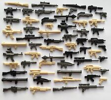BRICKARMS GUNS 60 PIECES STAR WARS HALO WW2 + Lego brick prty bag favour
