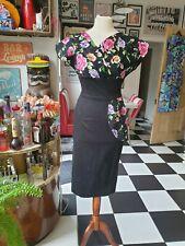 Vivien of Holloway Vintage grace pencil dress sz 14 (8-10) 50s  tiki rockabilly