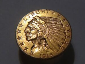 1916 S   indian head gold coin 5 $ 💖 out of jewelry. Excellent.