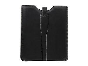 "Le Pan Black 9.7"" Tablet Sleeve Case Genuine Leather Belt Lock Model AC201"