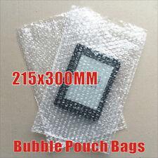 100pcs  Bubble Pouch Bag 215X300mm Bubble Wrap Bags Bubblebags Clear 215mm