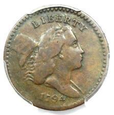 1794 Liberty Cap Flowing Hair Half Cent 1/2C Coin - PCGS VG10 - $1,900 Value!