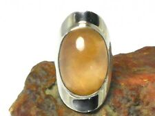 CHALCEDONY   Sterling  Silver  925  Gemstone  RING  -  Size:  M