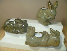 New ListingPartylite Baby Bunny Tealight Trio Holders P8046 3 Rabbits candle holders
