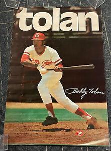 "Bobby Tolan Cincinnati Reds original SGA 1972 poster 24x36"" RARE"