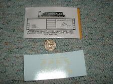 Oddballs decals N Gauge Minneapolis St Louis 40' box 1952 ptd dk green   H45