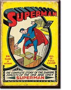 Superman Magnet Magnetschild aus USA - Cover Motiv Ausgabe Nr. 1