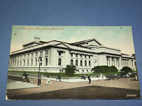 VINTAGE 1912  NEW YORK PUBLIC LIBRARY    NEW YORK   POSTCARD