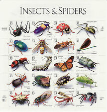 INSECTS & SPIDERS STAMP SHEET -- USA #3351 33 CENT 1999