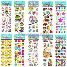 10Pcs Sheets Cartoon Sticker Kids Children 3D Picture Wall Decal Removable Decor
