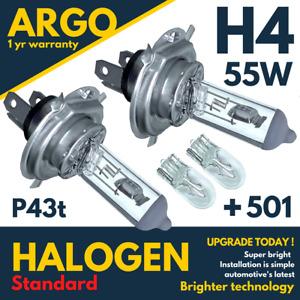 H4 Halogen 55w Headlight Bulbs 501 Side light Bulb 472 Clear Headlamp Car 12v