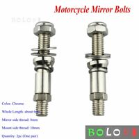 Motorcycle Rear View Mirror Screws Mount Bolts Adapter For Harley Sportster 10mm