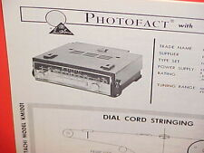 1966 HITACHI CAR AUTO PORTABLE AM-FM RADIO SERVICE SHOP MANUAL MODEL KM-1001