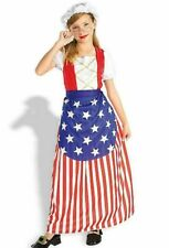 Patriotic Betsy Ross Child Costume with Betsy Ross flag