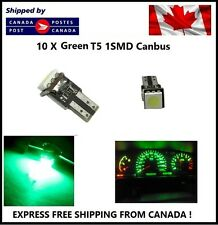10X T5 Canbus Green Instrument Panel Cluster Dash Led Lights Bulbs 17 73 74