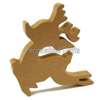 Free Standing Wooden MDF Reindeer Shape Christmas Crafts