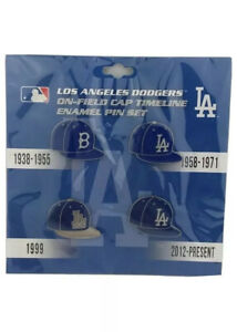 Los Angeles Dodgers MLB FRANCHISE TIMELINE ENAMEL PIN SET 1938-present