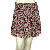 Vintage 90s Rampage Womens S Mini Skirt Pink Floral Boho Summer