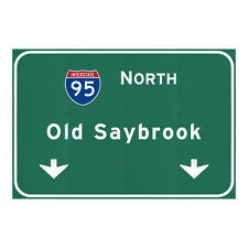 I-95 Interstate Old Saybrook Connecticut CT Metal Sign Art STEEL not tin 36x24