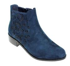 Lunar Ladies Women FLC042  RHYS  Flat Ankle Chelsea  Office Faux Leather Boot
