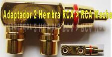 CONECTOR RCA ADAPTADOR 2 HEMBRAS a 1 MACHO GOLD ZPA-110