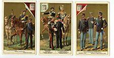 Full Set, Liebig (OXO) S172, Italian Army Uniforms I (X6) 1886 VG (Gu393-322)