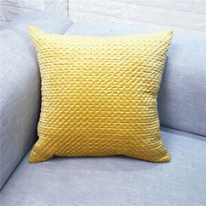 Fashion Velvet Pillow Case Soft Decorative Car Sofa Cushion Cover Home Decor