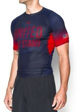 Under Armour Heat-GEAR Freedom USA United We Stand Compression Shirt Red-Blue