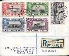 FALKLAND-INSELN 1939 Einschreiben Registered, PORT STANLEY 4 OC to Switzerland