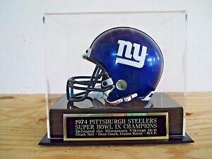 Pittsburgh Steelers Football Mini Helmet Case W/ A Super Bowl 9 Nameplate