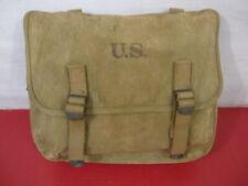 WWII US Army/USMC M1936 Khaki Canvas Musette Bag - Rubberized Canvas - 1942 #2