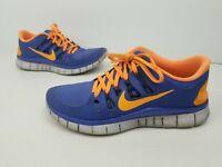 Nike Free 5.0+ Running Shoes 580591-580 Size 8 US Women's Blue Orange
