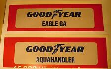 2 Goodyear Cardboard Billboards for HO or Larger Slot Car Layout Scenery
