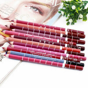 12 PCS Set Mixed Colour Lasting Lipliner Waterproof Lip Makeup Pencil Pen N4P7
