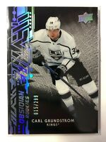 2019-20 UD Black Obsidian Rookie Carl Grundstrom LA Kings /299