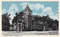 C20/ Hartwell Georgia Ga Postcard c1910 Baptist Church Building