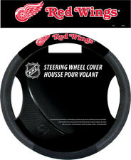 Detroit Red Wings Steering Wheel Cover NHL Hockey Team Logo Poly Mesh