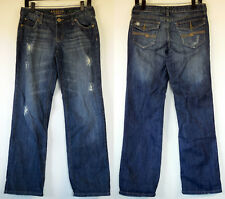 Arizona Jeans Recycled Cotton Distressed Stretch Straight Blue Denim Jeans 7