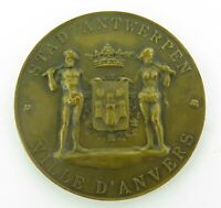LARGE 1900 1950 ANTWERP, BELGIUM BRONZE COMMEMORATIVE MEDAL
