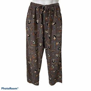 Men's Croft and Barrow Sleep Lounge Pants M Pick Up Lines Ladykillers