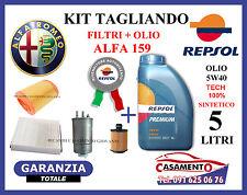 KIT TAGLIANDO FILTRI + OLIO REPSOL 5W40 ALFA 159 1.9 JTS 118KW 160CV 2005 IN POI