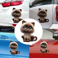 3D Cartoon Lovely Cat Eye Window Car Sticker Decals-New