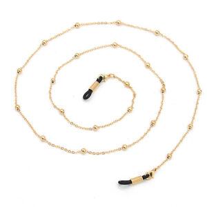 1PCMen Holder Glasses Strap Metal Bead Eyeglass Chain Spectacles Anti-slip Strap