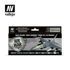 Vallejo Model Air USAF Colors Gray Schemes From 70s to Present 8 Color Set Av711